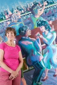 Judith Ely's 1st wall mural