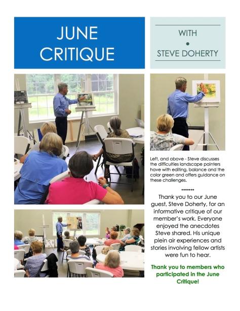 June 2018 Critique