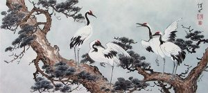 Chinese cranes