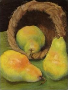 Ripening pears, pastel
