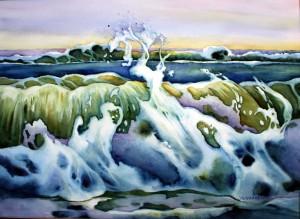 34A, Ocean Fingers, watercolor, 28x36