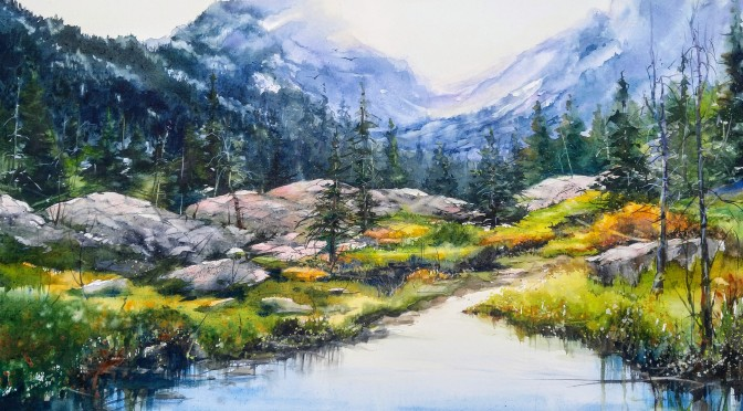A Mountain Landscape Added to Our Member Gallery